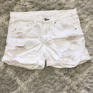 Rag & Bone Boyfriend Distressed Cuffed Shorts